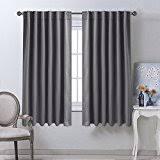Charcoal Drapes Amazon Com Grey Draperies U0026 Curtains Window Treatments Home
