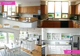 cuisine avant apr鑚 renovation cuisine bois avant apres barricade mag renovee renovation