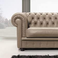 Grey Leather Tufted Sofa by Appealing Brown Modern Chesterfield Sofa Interior Design Feature