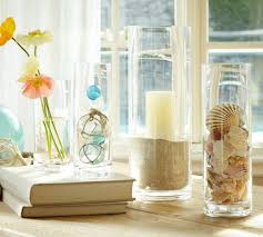 summer decoration summer decoration ideas with glass vase fillers and white curtains