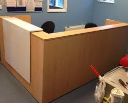 Corner Reception Desk Desk 2 Person Reception Desk Exalting Salon Reception Desk
