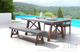 modern dining tables canada zuo vive outdoor ford dining table cement u0026 natural 703594