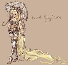 steampunk rapunzel sketch by noflutter on deviantart