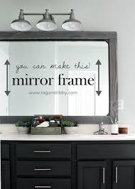 Framing Existing Bathroom Mirrors Diy Rustic Wood Mirror Frame Tag Tibby
