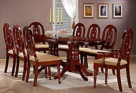 Round Dining Set For 8 Chair Flower Carving Round Dinning Table Set 8 Chairs Asian Dining