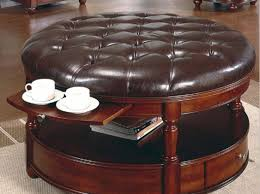 riveting black leather ottoman storage coffee table tags black