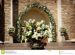 Wedding Flowers Church Beautiful Wedding Flowers Outside A Church Royalty Free Stock