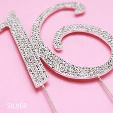 rhinestone number cake toppers number 16 rhinestone cake topper sweet sixteen favors other