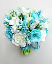 turquoise flowers turquoise green white wedding bouquet turquoise flowers bridal