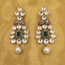 karigari earrings semi precious jewellery to make you shine this wedding season