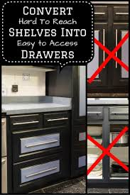 how to turn a base cabinet into a kitchen island how to convert base cabinet shelves to drawers kitchen