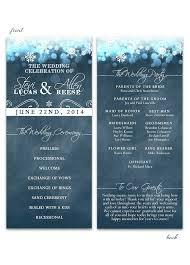 Winter Wedding Programs Wedding Programs Archives Odd Lot Paperie