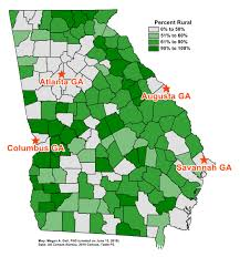 Georgia Counties Map Voting Rights Communication Pipelines Georgia After Shelby County