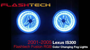 lexus is yellow fog lights lexus is300 v 3 fusion colorshift led halo fog light kit 2001