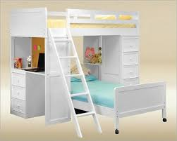 enchanting white bunk bed with desk full loft bed with desk white