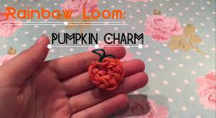 rainbow loom thanksgiving charms pumpkin charm rainbow loom laura dd youtube