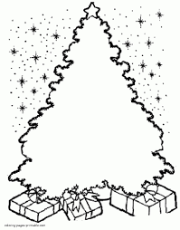 drawing of christmas ornaments christmas tree coloring pages