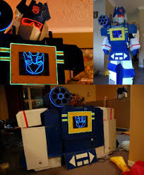 Transformer Halloween Costume Transforms Fully Functional G1 Soundwave Costume Transforms Plays Music
