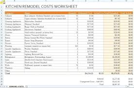 remodeling a home on a budget template residential construction budget template home renovation