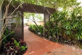 Mid Century Modern Landscaping by Mid Century Modern Dresser Landscape Midcentury With Brick Brick