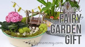 Gardening Basket Gift Ideas by How To Make A Diy Miniature Fairy Garden Gift Youtube