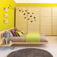 fantastic mix yellow wall color paint with glossy black floor