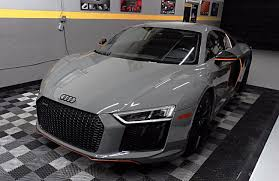 audi r8 wrapped rare audi r8 v10 plus exclusive edition visits first class