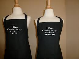 apron set i love cooking for my husband u0026 i love cooking for