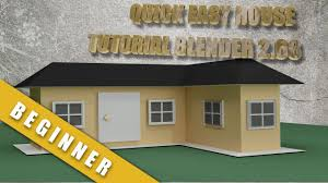 Design Your Own 3d Model Home How To Create A Quick And Easy House In Blender 2 68 Youtube