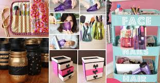 hair and makeup storage 25 brilliant and easy diy makeup storage ideas diy projects