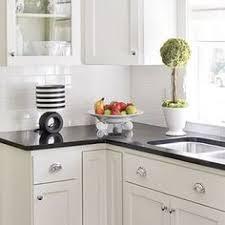 Black Kitchen Countertops by Kitchen Love Black Granite Counter Tops White Subway Tile