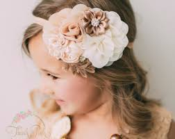 flower girl headbands flower girl headband etsy