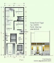 desain rumah lebar 6 meter desain rumah sederhana tipe cemara di lahan 6x15 m2 mbak inge