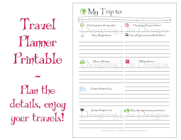 trip planner templates vacation travel planner printable pdf sheets my trip to
