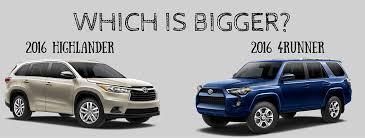 Toyota Highlander Interior Dimensions Is The Toyota Highlander Bigger Than The 4runner