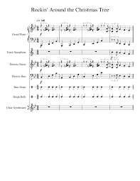 rockin u0027 around the christmas tree musescore
