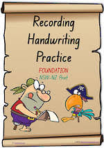 year 2 handwriting student recording sheets nsw nz pre cursive