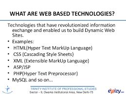 web based programming