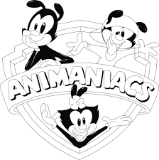 animaniacs animaniacs logo for coloring book by renardfox on deviantart