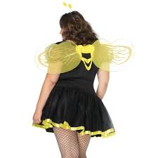 plus size queen bee womens costume with wings halloween bee costume