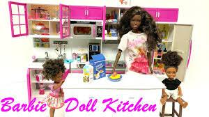 modern kitchen set unboxing new barbie doll modern kitchen set youtube