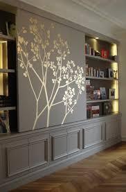 panneau relief mur panneau coulissant prunus feuilles d u0027or réalisation l u0027atelier du