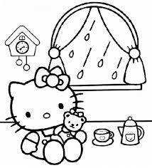 kitty printable coloring pages sheets birthday party