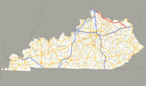 aa road map usa kentucky route 9
