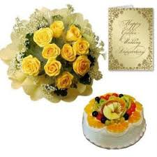 buy flower gifts cake and flower wedding anniversary online