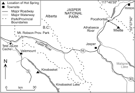 Jasper National Park Canada Map by Relict Tufa At Miette Springs Jasper National Park Alberta