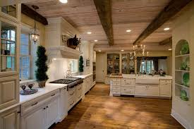 chairs hardwood panels combined farmhouse kitchen natural finish