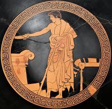 si e lib ation youth performing a libation interior of a bowl by makron circa 480