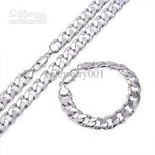 white gold men necklace images 2018 chunky wholesale fashion 18k white gold filled mens necklace jpg