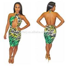 women partydress long sleve deep v printed